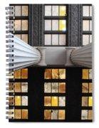 2 Column Stain Yellow Spiral Notebook