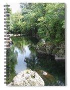 Conwy River Near Betws Y Coed.  Spiral Notebook