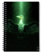Cormorant Dries Its Wings Spiral Notebook