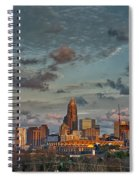 Cotton Candy Sky Over Charlotte North Carolina Downtown Skyline Spiral Notebook