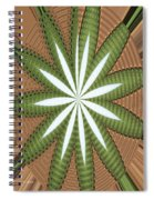 Cotton Field Abstract Spiral Notebook