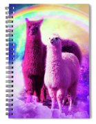 Crazy Funny Rainbow Llama In Space Spiral Notebook