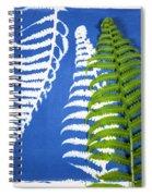 Cyanotype Print, Fern Spiral Notebook