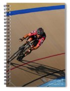 Cycle Racing On The Curve Spiral Notebook