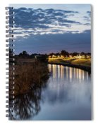 Dawn Over The Town River Spiral Notebook