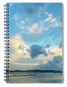Dawn Seascape With Cloudy Sky Spiral Notebook
