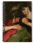 Democritus And Heraclitus Spiral Notebook