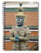 Detail From A Buddhist Temple In Bangkok Thailand Spiral Notebook