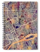 Detroit Michigan City Map Spiral Notebook