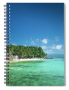 Diniwid Beach In Tropical Paradise Boracay Philippines Spiral Notebook