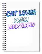 Dog Lover From Maryland Spiral Notebook