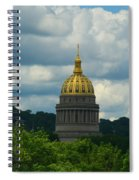 Dome Of Gold Spiral Notebook