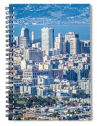 Downtown San Francisco City Street Scenes And Surroundings Spiral Notebook