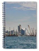 Dubai Creek And Abra Boats Spiral Notebook