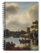 Dutch Landscape With Fishers Spiral Notebook
