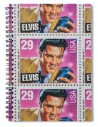 Elvis Commemorative Stamp January 8th 1993 Painted  Spiral Notebook