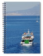 Emborio Harbour On Halki Spiral Notebook