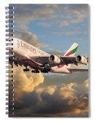 Emirates Airbus A380 Spiral Notebook