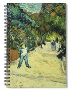 Entrance To The Public Gardens In Arle Spiral Notebook
