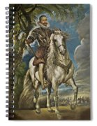 Equestrian Portrait Of The Duke Of Lerma Spiral Notebook