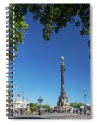 Famous Columbus Monument Landmark In Central Barcelona Spain Spiral Notebook