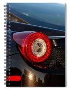 Ferrari Tail Light Spiral Notebook