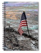 Flag In A Crack In The Pavement Spiral Notebook