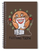 Flossing Tooth Spiral Notebook