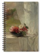 Flowers On A Window Ledge Spiral Notebook