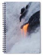 Flowing Pahoehoe Lava Spiral Notebook