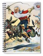 Free Silver Cartoon, 1896 Spiral Notebook
