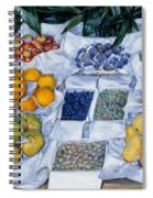 Fruit Displayed On A Stand Spiral Notebook