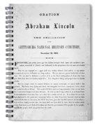 Gettysburg Address, 1863 Spiral Notebook