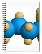 Ghb Molecular Model Spiral Notebook