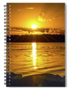 Golden Sunrise Waterscape Spiral Notebook