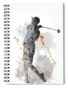 Golfer Spiral Notebook