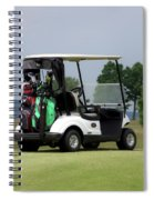 Golfing Golf Cart 04 Spiral Notebook