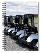 Golfing Golf Carts Spiral Notebook