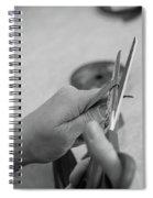 Hands At Work.  Spiral Notebook