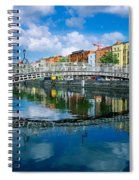 Hapenny Bridge, River Liffey, Dublin Spiral Notebook
