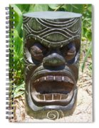 Hawaiian Tiki God Ku Spiral Notebook
