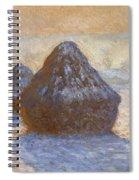 Haystacks, Snow Effect Spiral Notebook