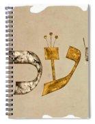 Hebrew Calligraphy- Yael Spiral Notebook