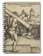 Hercules Carrying The Columns Of Gaza Spiral Notebook