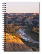 High Angle View Of A River Passing Spiral Notebook