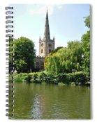 Holy Trinity Church At Stratford-upon-avon Spiral Notebook