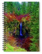 Indian Canyon Waterfall Spiral Notebook