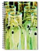 Iridescent Bottle Parade Spiral Notebook