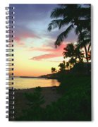 Island Sunset Spiral Notebook