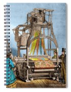 Jacquard Loom For Weaving Textiles Spiral Notebook